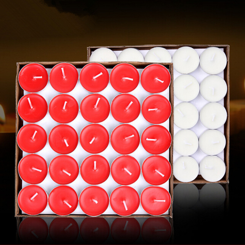 50pcs/lot  Wedding hotel KTV bars warm tea candles boiled tea smokeless candles do romantic birthday proposed small candle