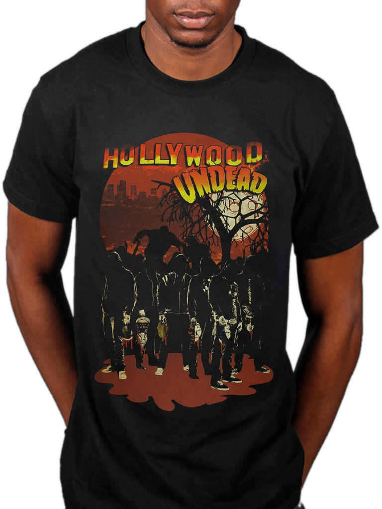 Hollywood Undead Faceless Horror T-Shirt Swan Songs V American Tragedy Fashion 100% Cotton T-Shirt