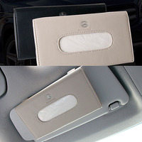 High Quality Car Sun Visor Hanging Leather Tissue Box For Mercedes Benz Dedicated Tissue Box Auto