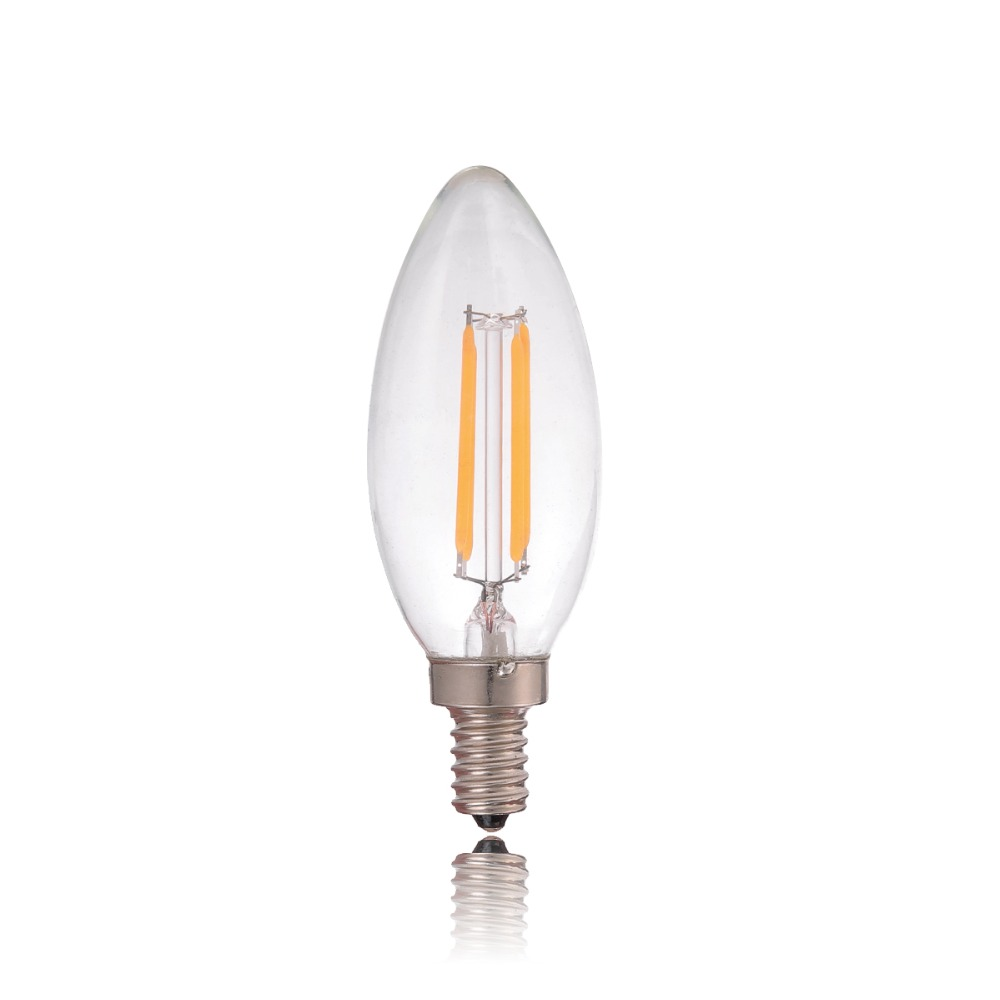 2w 4wled filament light bulbchandelier candle stylee12 e14 base 2w 4wled filament light bulbchandelier candle stylee12 e14 basewarm yellow2200k110v 220vacretro decorative lamp in led bulbs tubes from lights arubaitofo Image collections