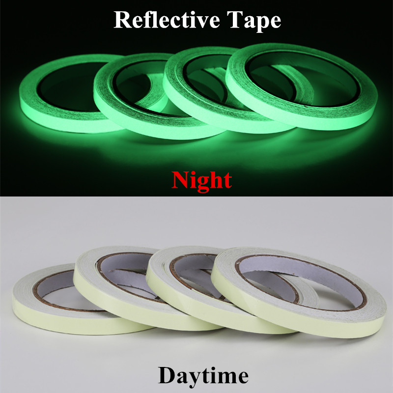 12 MM*3 M Self-adhesive Tape Glow In The Dark Stage Home Decorations Warning Tapes Safety Security Reflective Sticker Material