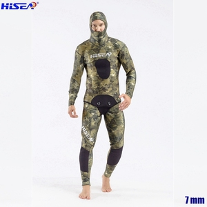 Image 2 - Men Professional 5mm 7mm for Taiwan YAMAMOTO Neoprene Spearfishing Suits Available Hooded Sealed two piece Diving Dry Wetsuits