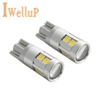 2017 New 2x W5W LED 12V T10 Car Lamps Cars Interior Light Marker Lamp 168 194