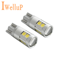 2017 New 2x W5W LED 12V T10 Car Lamps Cars Interior Light Marker Lamp 168 194