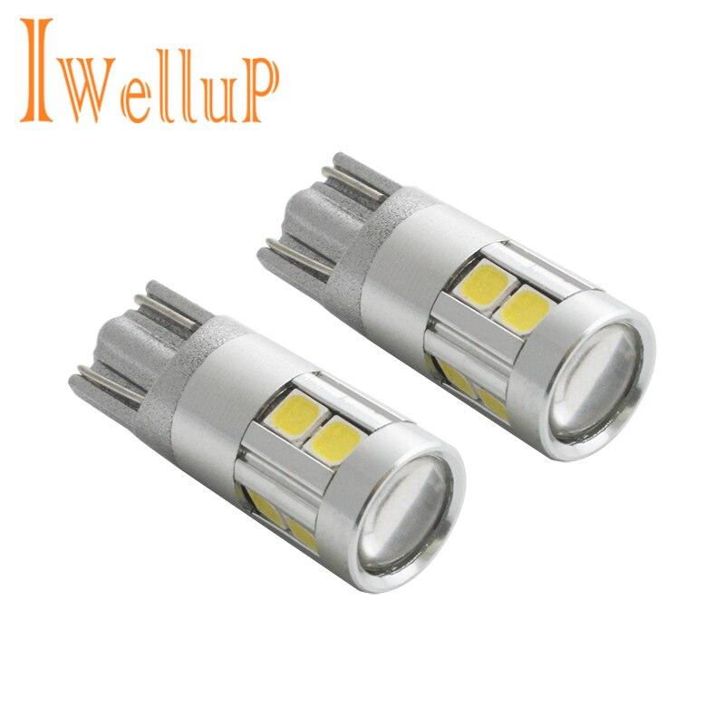 2x W5W LED 12 V T10 Auto lampen Autos Marker Lampe 168 194 501 birne Parkplatz Auto für Lada Auto Styling