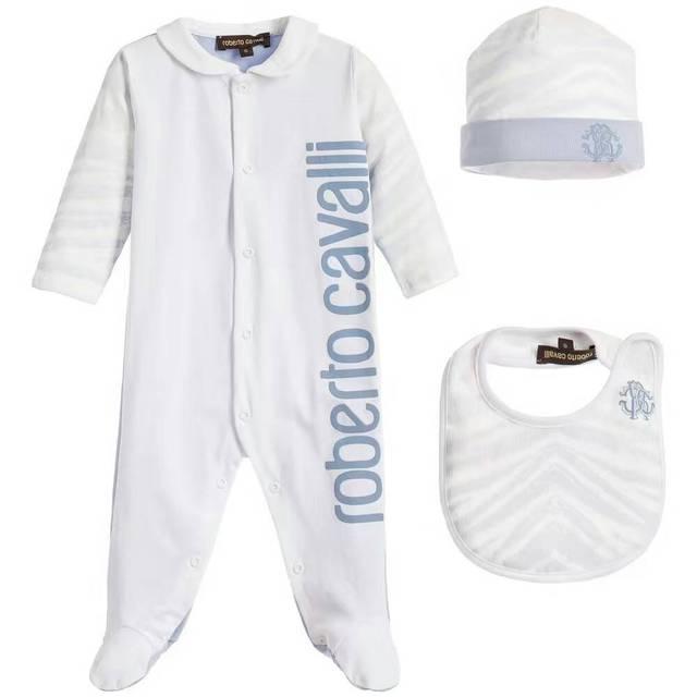 Novo Bebê macacões manga Longa três-piece suit Infantil Bodysuits toddlers letras Marinha Romper terno por atacado