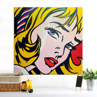 Lichtenstein Pop Art Cartoon Oil painting on canvas Hand painted Wall Art Picture for living Room Andy Warhol home decor 5
