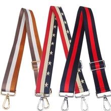 Nylon Bag Straps for Shoulder Rainbow Belt Messenger Bags Adjustable Wide Strap Parts Accessories
