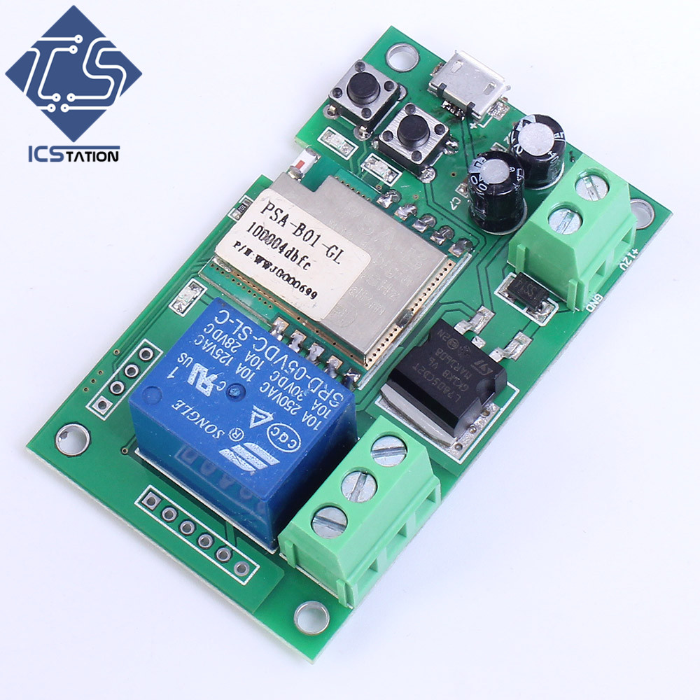 Single Channel Inching Self-Lock Wifi Relay Module 12V For Door Control System 5v 1 channel single relay module