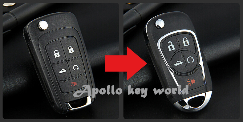 Key Fob App >> Modified Flip Folding Remote Key Shell Case 5 Button For ...