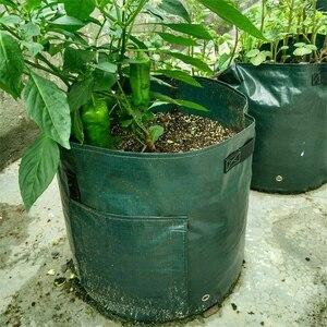 Image 5 - Planta vegetal crescer saco de batata diy crescer plantador pe pano tomate plantio recipiente saco engrossar jardim pot jardim suprimentos