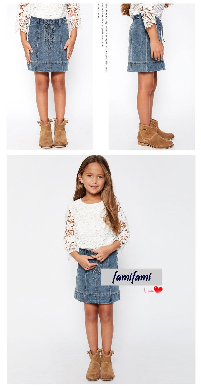 girls jeans skirt G2078-9