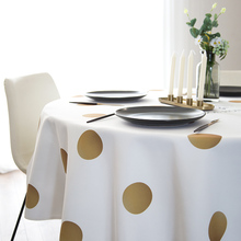 Cloth round tablecloth, waterproof and oil-proof table cloth, anti-scalding mat