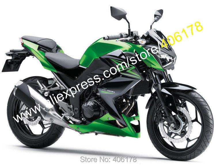 Горячие продаж,для Kawasaki Z250 Z300 15-16 2015-2016 З 250 З 300 зеленый черный мотоцикл обтекатель комплект Обтекателя (литье под давлением)