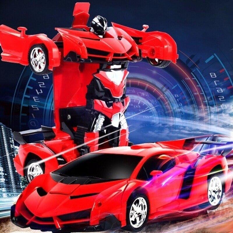 Robots de transformación de coche de radiocontrol 2 en 1, Robots de modelo de vehículo deportivo, juguetes de deformación de Control remoto para niños, regalos para niños|Coches con radiocontrol|   - AliExpress