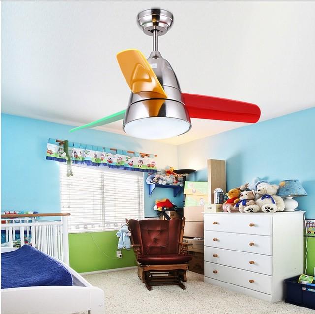 Nordic LED 36 Inch Kids Plafondventilatoren Met Verlichting ...