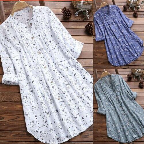 Women Casual Blouses Loose Long Sleeve Tunic Tops Shirt Summer Elegant Blouse Streetwear Plus Size M-3XL 2019 Fashion NEW(China)