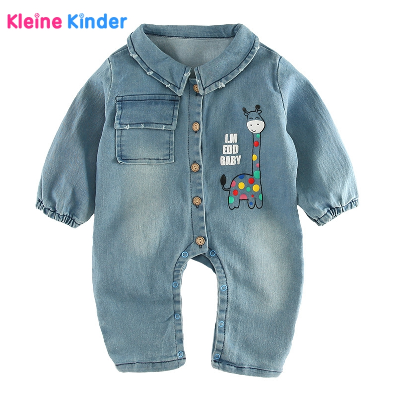 Baby Rompers 2018  Fashion Soft Denim Graffiti Infant Clothes Newborn Jumpsuit Babies Boy Girls Costume Cowboy Jeans Romper 0-2Y newborn baby clothes winter baby boy clothes cotton romper jumpsuit gentleman costume baby rompers infant boy clothes 0 12m