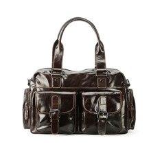 Роскошные Качество кожи мужские сумки глава слой кожи большой емкости портфель путешествия мужской сумка для ноутбука