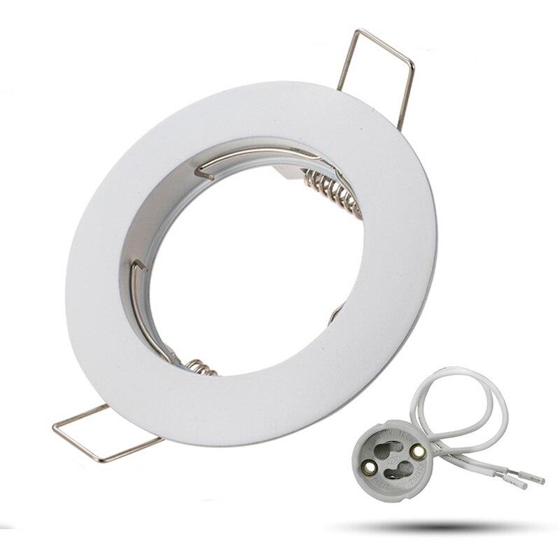White GU10 MR16 Recessed Ceiling Spotlight Downlight Base Socket IP20 Not Adjustable Diameter 80mm Mounting Diameter 60mm