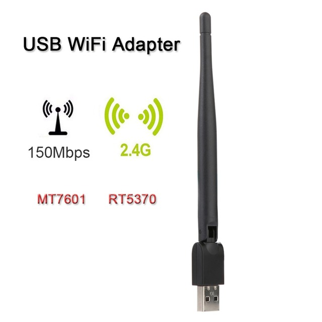 SATXTREM RT5370 / MT7601 USB WiFi Wireless With Antenna LAN Adapter For TV Box Satellite Receiver Freesat V7 HD/V8 Super/IP-S2