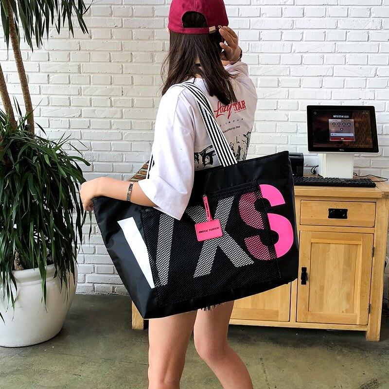 Bolish Nylon Women Handbags Large Capacity Travel Shopping Bags