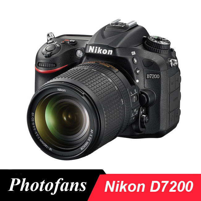 Nikon  D7200 DSLR Camera 24.2MP DX-Format 1080p Video Wi-Fi 3.2 LCD (Brand New) nikon d5600 dslr camera 24 2mp full hd 1080p wi fi bluetooth 2016 new release
