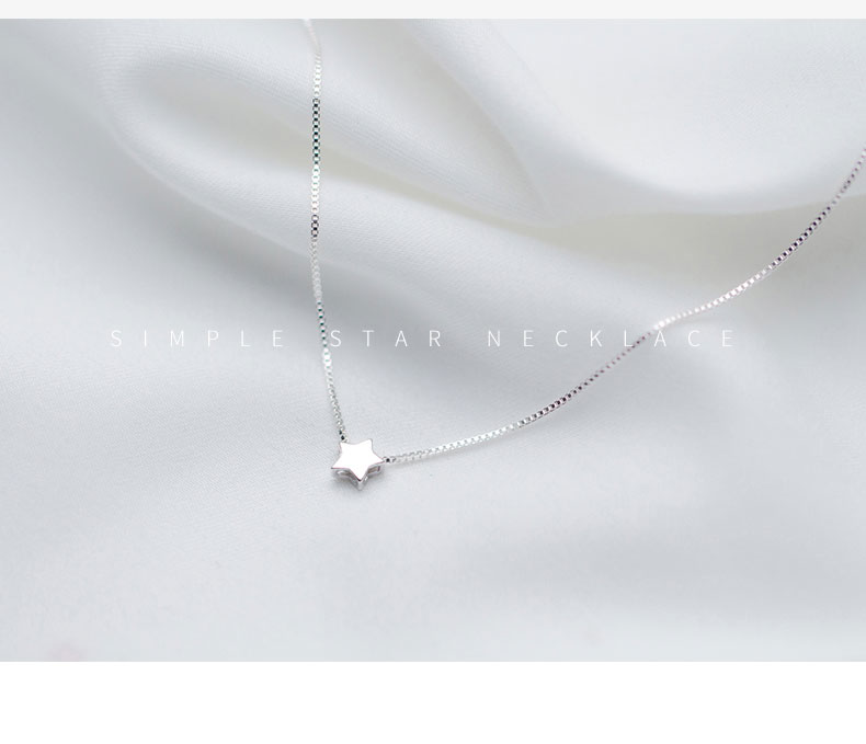 2d4fd818a61ec US $7.5 30% OFF|MloveAcc 925 Sterling Silver Star Charm Pendant Necklaces  for Women Fashion Jewely Small Choker Necklaces Accessories-in Pendant ...