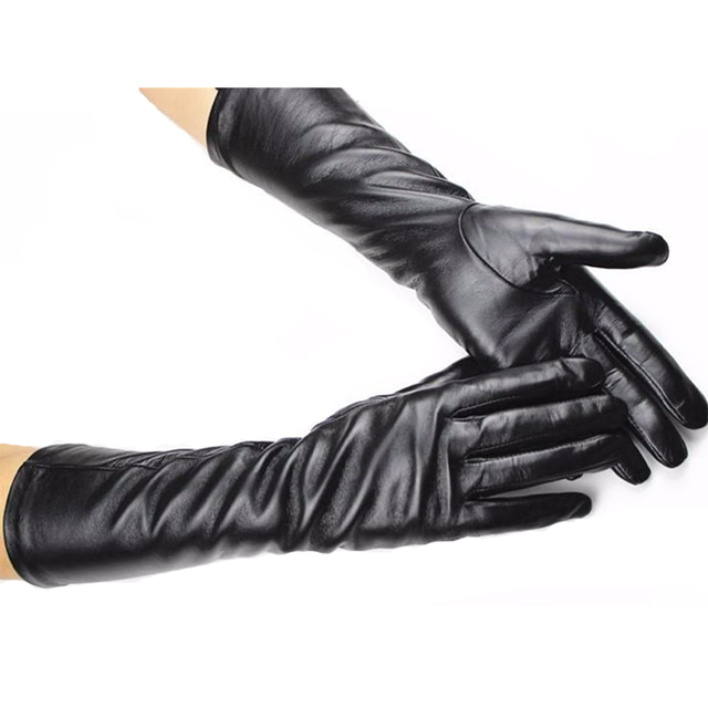 Guantes Mujer Long Leather...