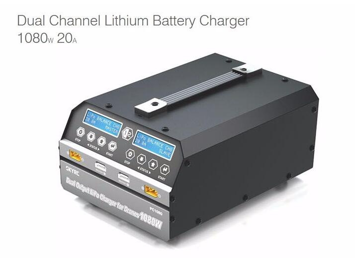 Skyrc PC1080 1080W 20A Dual Channel Lithium Battery Charger