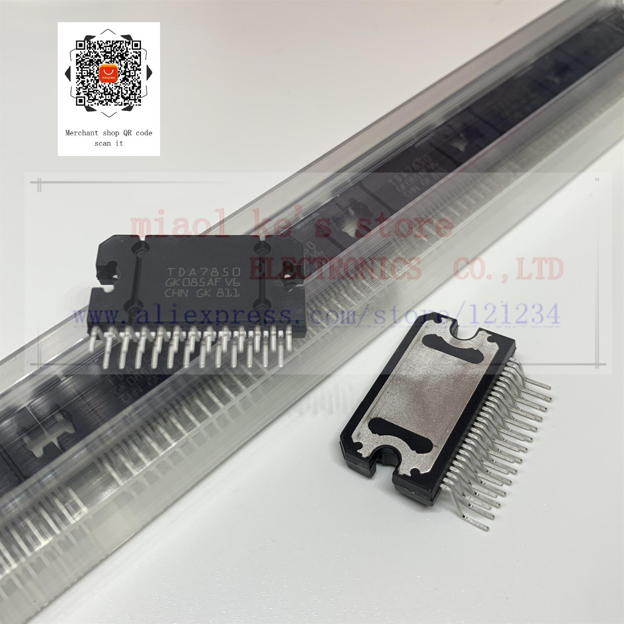 100% חדש מקורי; TDA7850 tda7850-4x50 W MOSFET quad גשר כוח מגבר בתוספת HSD - IC AMP QUAD גשר FLEXIWATT25