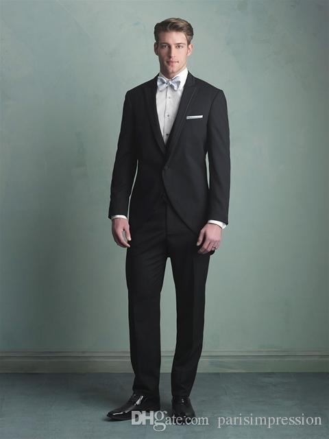 New Arrival Hot Sell New Style black blue Groom Tuxedos Suit Lapel ...
