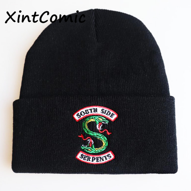 Hot Movie Riverdale Jughead Jones Cosplay Accessories Hats Women Men Cotton Wool Dome Cap Archie Veronica Betty Embroidery Hat