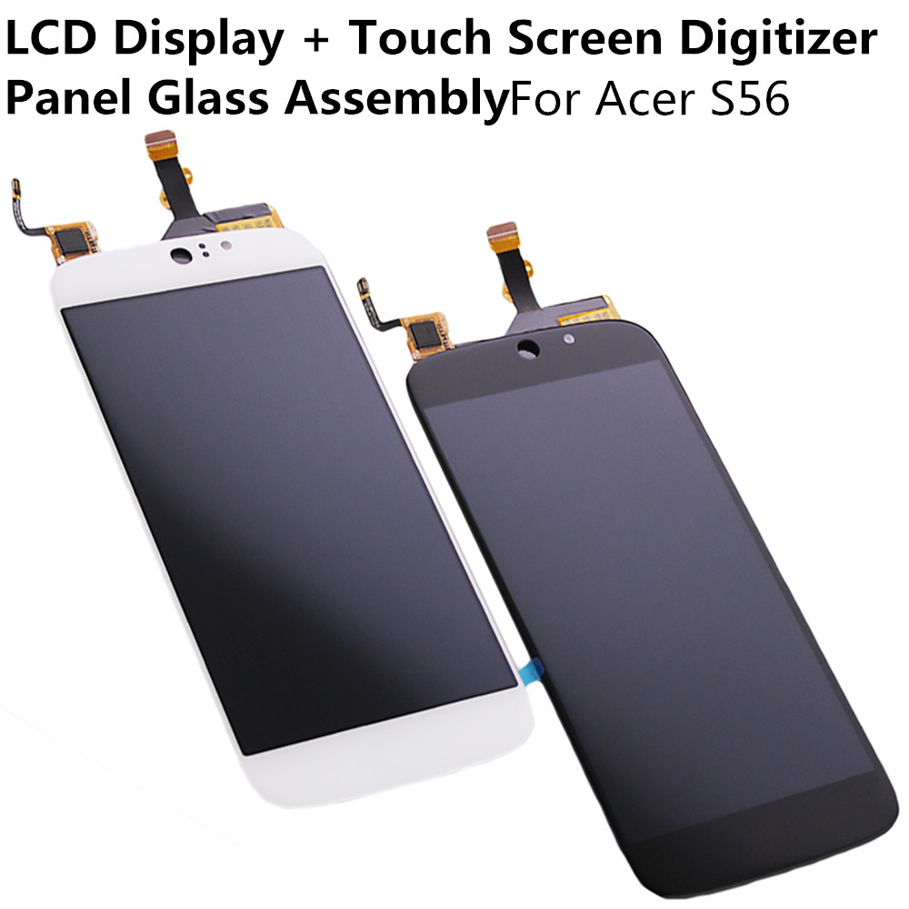 LCD Display + Touch Screen Digitizer Panel Glass Lens Sensor Assembly For Acer S56 Replacement Parts Repair Part FreeShipping