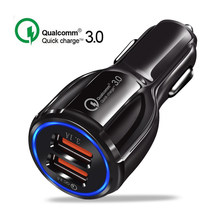 30W Car Charger Quick Charge 3.0 Fast Charging USB Phone Charger for iPhone Samsung S9 S8 Note8 8 plus XiaomiUSB Charger Adapter(China)