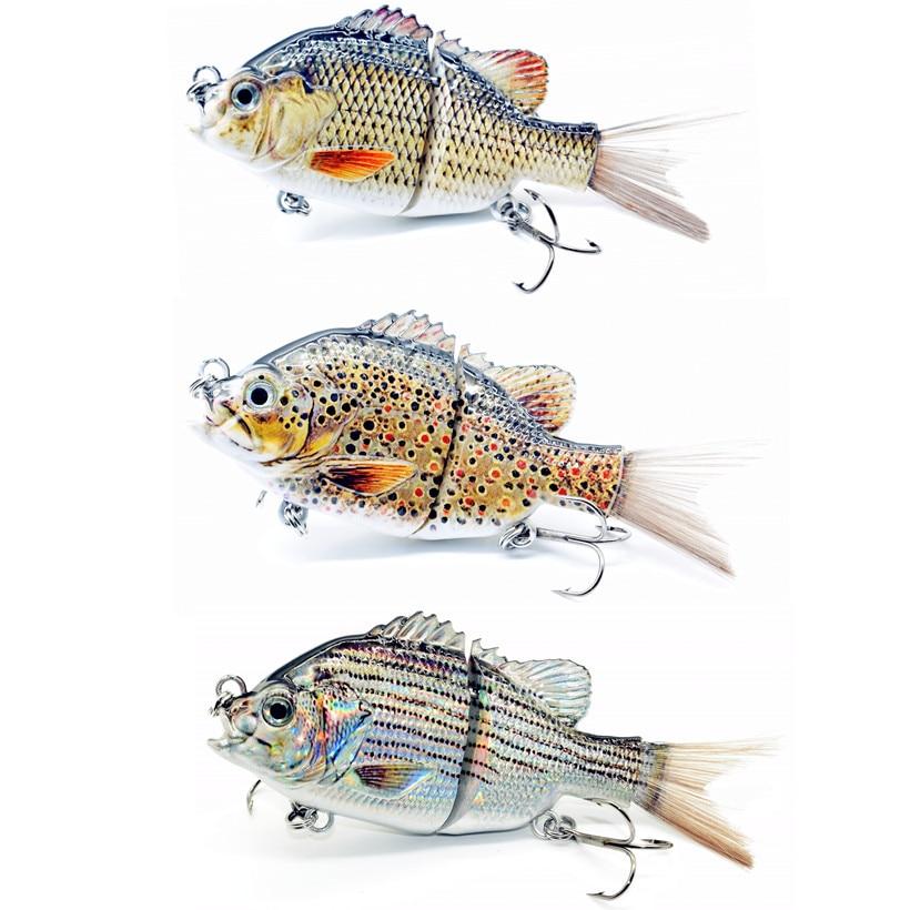 5inch Fishing Lure  Swimbait Bass Pike Catfish Bait Lifelike Sunfish