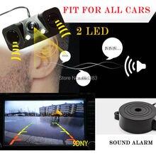 1 звуковой сигнал CCD HD Автомобильный Обратный Резервное копирование LED заднего вида Камера парковочный радар Системы, заднего вида Камера + 2 Датчики