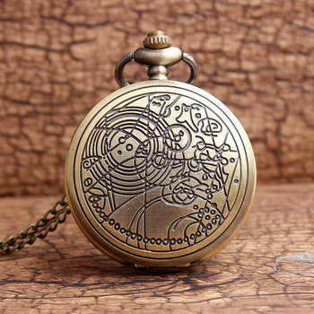 Retro doctor who design quartz pocket watch men women vintage bronze necklace women s lady fob.jpg 350x350