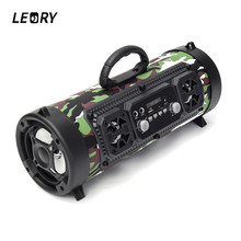 LEORY CH-M17 Individual Wireless Bluetooth Speaker Portable Surround Sound Radio Speaekr with Mic Outdoor Camping Biking Player