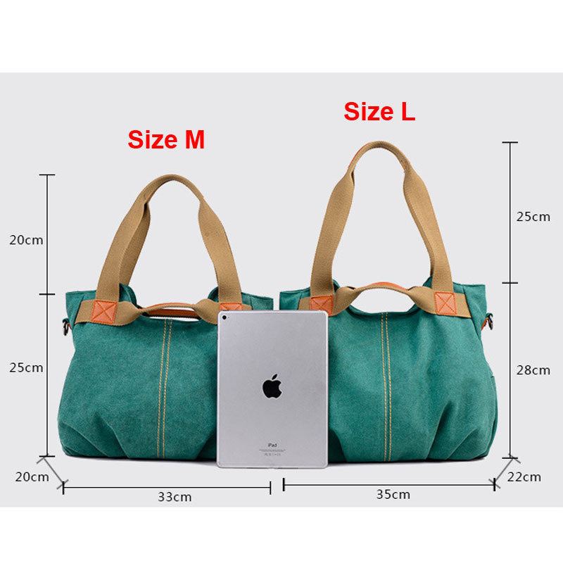 Image 2 - KVKY Brand Hot Fold Casual Tote Women's Handbag Shoulder Crossbody Bags Canvas High Capacity Bag for Women Female bolsa feminina-in Top-Handle Bags from Luggage & Bags