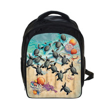 3D Print Sea Animals Whale Backpack For Children Small Backpack Kindergarten Kids Bags School Bags Waterproof Backpacks Mochila