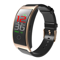 Female Fitness Smart Genuine Leather Watch Men Heart Rate Monitor Bluetooth Pedometer Touch Intelligent Sports Running Watches