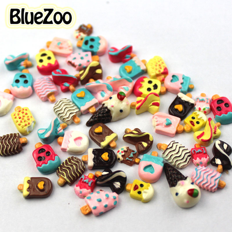 Bluezoo New 50pcs Nail Rhinestone On Nail Studs 10 Different Types