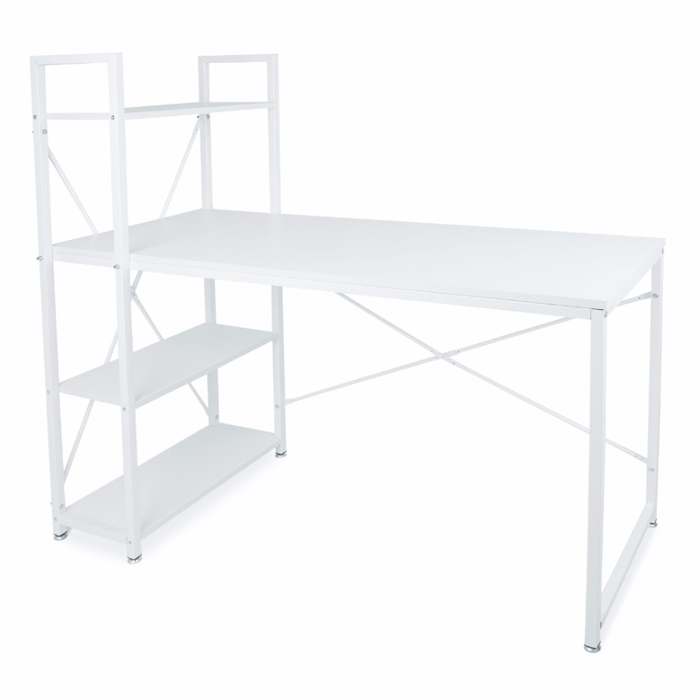 Shellhard Home Office Computer Desk Table Storage W/ Bookshelf Student Study Furniture glass office table computer desk workstation with suspended cabinet and drawers office furniture hot sale