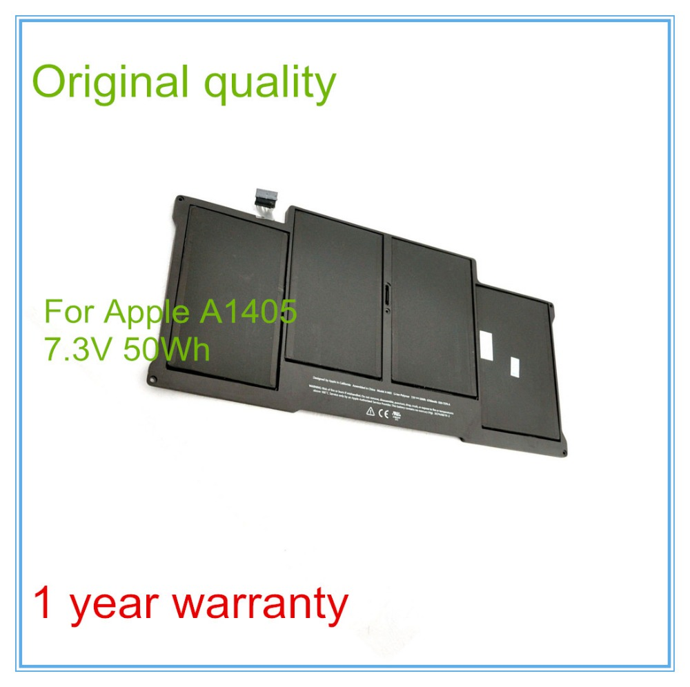 New Original A1405 Battery For Air 13 A1369 Mid 2011 & A1466 Mid 2012 7.3V 50Wh 6700mAh rechargeable battery for apple for macbook air core i5 1 6 13 a1369 mid 2011 a1405 a1466 2012
