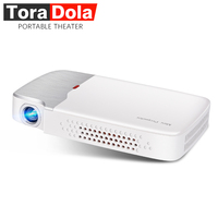 TORA DOLA PH30, DLP проектор с Android 5,1, wifi, Bluetooth, 4000 мАч батарея, HD in, Active 3D, 800x600 Портативный театр