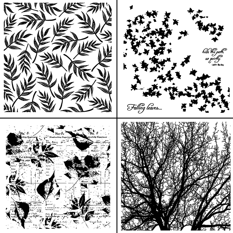 AZSG Leaves/Branch/Dandelion/Flowers Clear Stamps/Seals For DIY Scrapbooking/Card Making/Album Decorative silicone Stamp Crafts