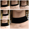 Black Velvet Choker Necklace 10-50mm Punk Gothic Women collares mujer Collier Femme Bijoux