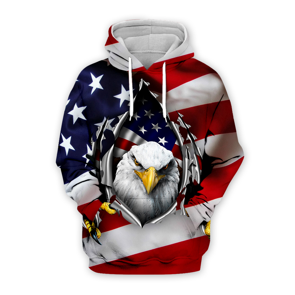 Newest USA Eagle Hoodies Men/Women Sweatshirt JULY FOURTH Hooded United States America Independence Day Hoody 3D National Flag