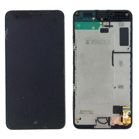 Black LCD Display Touch Screen Digitizer Assembly Panel Frame For Nokia Lumia 630 635